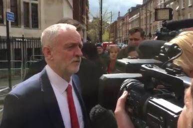 Il leader Laburista Jeremy Corbyn